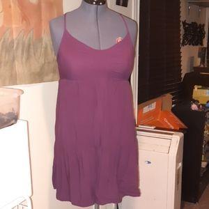 Purple Racerback Tiered Dress